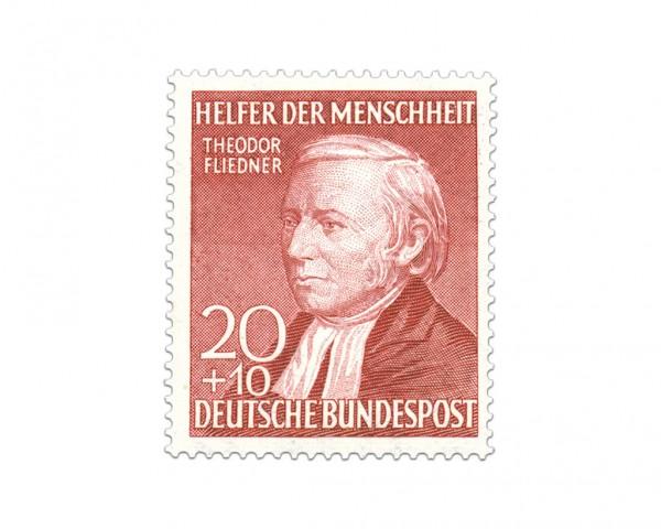 """BRD MiNr. 158 I ** Type I Helfer der Menschheit """"Th. Fliedner"""""""