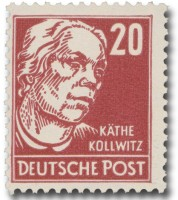 DDR MiNr. 333 vb XII ** 20Pf Persönlichkeiten K. Kollwitz