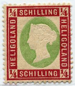 Helgoland MiNr. 8a * 1/4 S dkl.rotkarmin/gelblichgrün