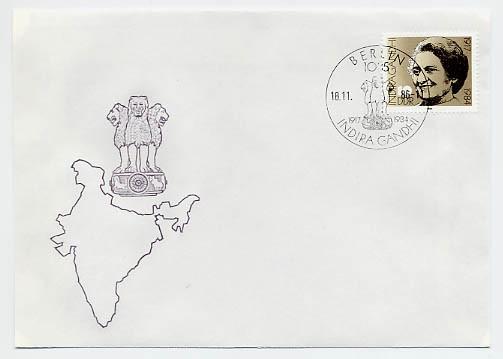 DDR FDC MiNr. 3056 Indira Gandhi