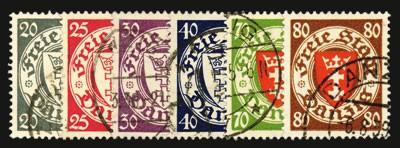 Freie Stadt Danzig MiNr. 245/50 o FM: Staatswappen im Kreis (VI)