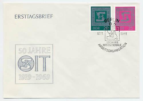 DDR FDC MiNr. 1517/18 50 J. IAO