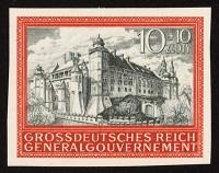 Generalgouvernement MiNr. 125 U ** 5 Jahre Generalgouvernement, ungezähnt
