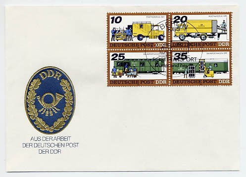 DDR FDC MiNr. 2299/2302 Zdr. Post-Transport