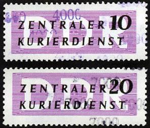 DDR Dienstmarken B MiNr.14-15 ** für den ZKD, mit Aufdruck von Kontrollzahlen