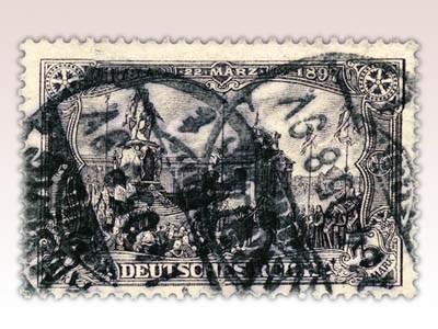 """Dt. Reich MiNr. 80B o FM mit Inschrift """"Deutsches Reich"""""""