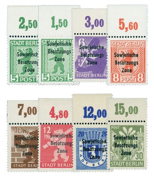 SBZ Allg.A. MiNr. 200-06 OR ** Berlin-Brandenburg mit Aufdruck