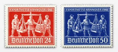 All.Bes.GA MiNr. 969/70 ** Exportmesse Hannover 1948