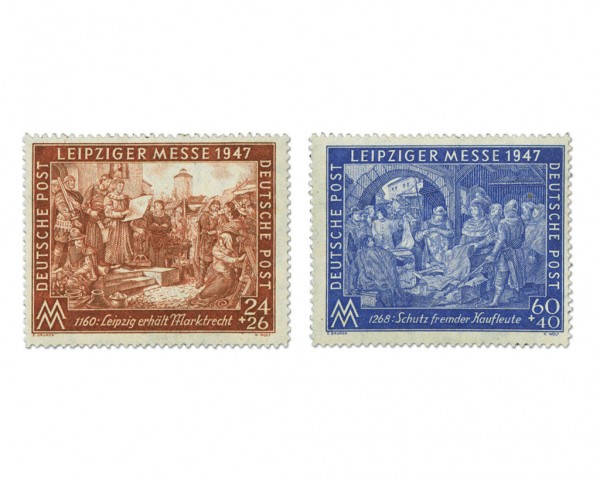 All.Bes.GA MiNr. 941/42 IC** Leipziger Frühjahrsmesse 1947