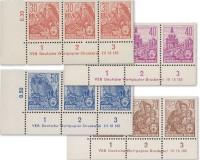 DDR Druckvermerke-Set Fünfjahrplan ** 4 Werte, MiNr. 582B-585B DV