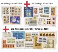 """DDR Kleinbogen """"3 Jahrzehnte Kollektion"""" ** alle 50 Kleinbogen der 60er, 70er & 80er Jahre"""