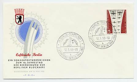 Berlin FDC Mi-Nr. 188 10. Jahrestag Beendigung der Luftbrücke