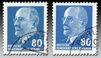 "DDR MiNr. 1331 Type IB Farbe ""b"" +1331 Farbe""a"" o Freimarken: Ulbricht"
