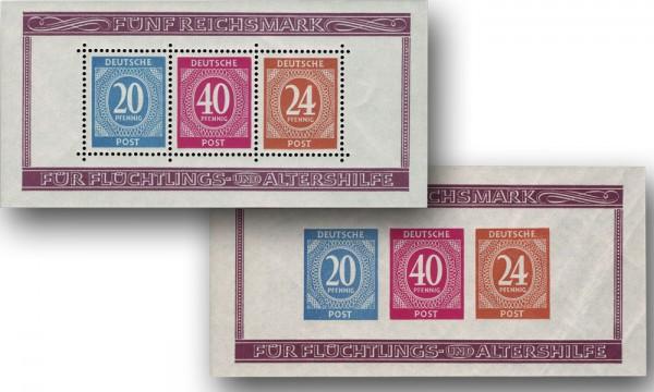 All.Bes.GA MiNr. 924/27 Bl.12 A ** Briefmarkenausstellung Berlin 1946