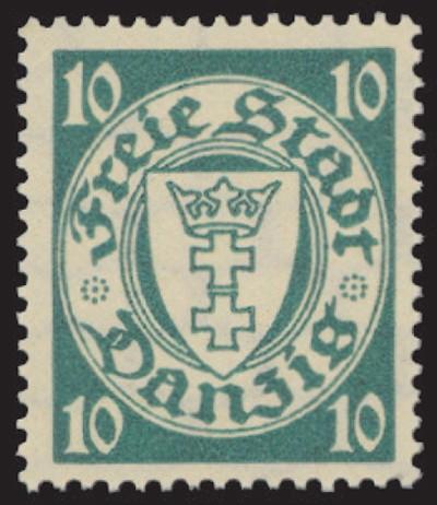 Freie Stadt Danzig MiNr. 272A ** FM Staatswappen im Kreis (VIII)