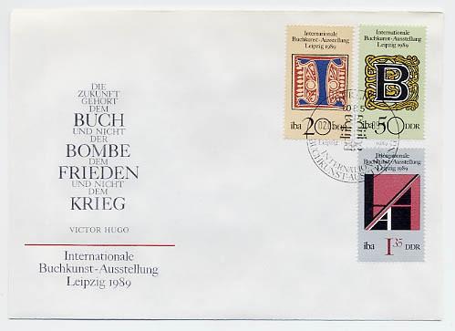 DDR FDC MiNr. 3245/47 Int. Buchkunstausstellung