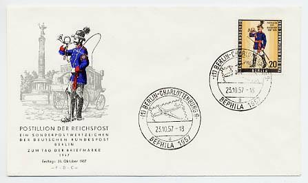 Berlin FDC Mi-Nr. 176 Tag der Briefmarke 1957