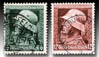Dt. Reich MiNr. 569/70x o Heldengedenktag
