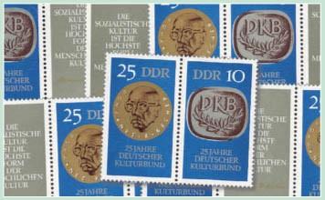 DDR Zdr.-Kombinat. MiNr. 1592/93 ** Kulturbund (WZd 227 - 232)