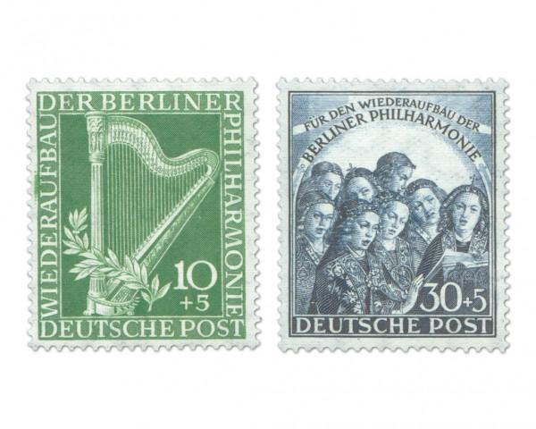 Berlin MiNr. 72/73 ** Wiederaufbau der Berliner Philharmonie