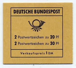 BRD MH 14c ** Brandenburger Tor 1968