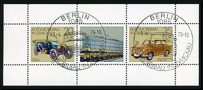 DDR Klbg. MiNr. 2412/13 o Automobilbau