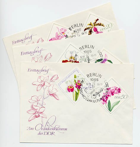 DDR FDC MiNr. 1420/25 Orchideen