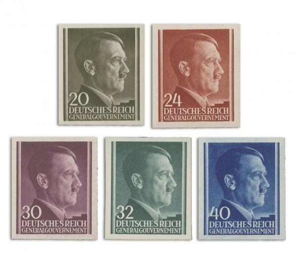 Generalgouvernement MiNr. 77/81 U ** FM: Adolf Hitler, ungezähnt