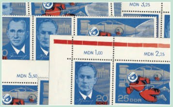 DDR Zdr.-Kombinat. MiNr. 1138/40 ** Kosmonautenbesuch (WZd 156 - 161)