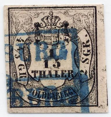 Oldenburg MiNr. 3I o 2 Silbergroschen bräunlichrot