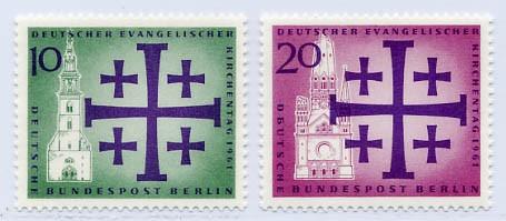 Berlin MiNr. 215/16 ** Dt. Evangelischer Kirchentag Berlin