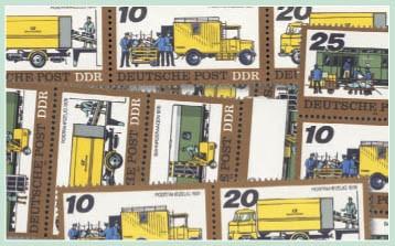 DDR Zdr.-Kombinat. MiNr. 2299/02 ** Posttransport, WZd 362-369, SZd 149-156