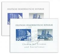 DDR MiNr. Block 18 ** und o Chemische Industrie, 2 Blocks