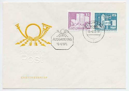 DDR FDC MiNr. 1853/54 Freimarken: Aufbau in der DDR (groß) (III)