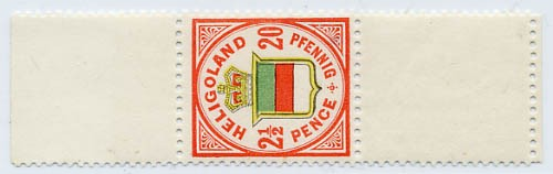 Helgoland MiNr. 18g ** 20Pf/2 1/2 P rötl.ora/h'gelb/h'graugrün