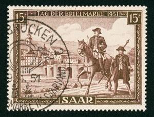 Saarland MiNr. 305 o gepr. Tag der Briefmarke 1951
