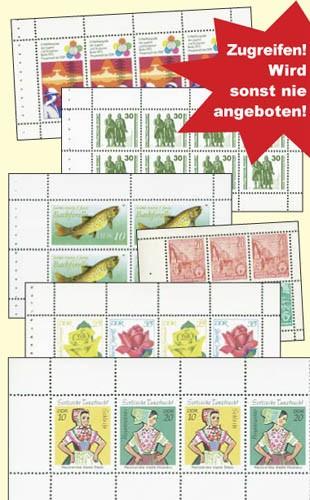 DDR 12 Heftchenblätter **