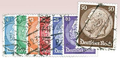 Dt. Reich MiNr. 467/73 o FM Hindenburg-Medaillon 1932