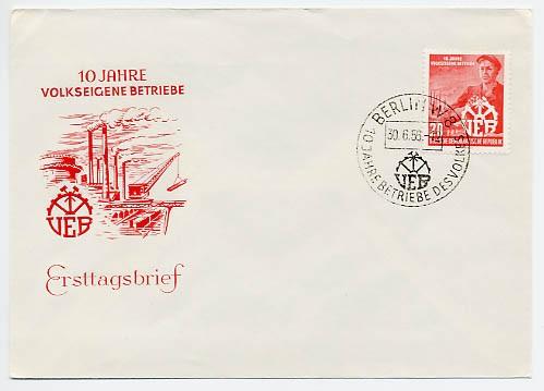 DDR FDC MiNr. 527 10 Jahre VEB