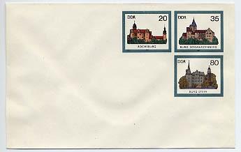DDR Ganzsache U 2 * 1.35 Burgen 1985