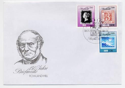 DDR FDC MiNr. 3329/31 150 J. Briefmarken