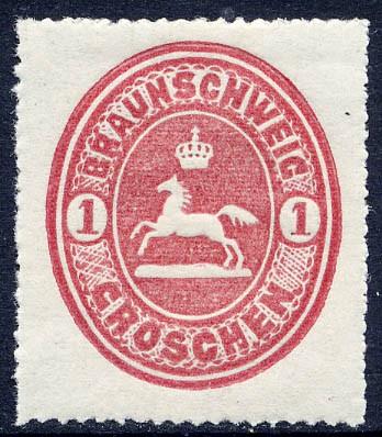Braunschweig MiNr. 18 ** 1 Groschen / karminrot