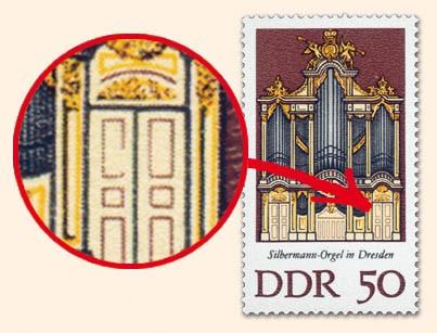 DDR MiNr. 2114 PF I ** Silbermann-Orgeln