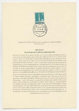 Berlin ETB-Nummer 13/ Mi. 142 o Amtliches ETB-WB / 1956