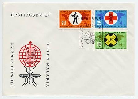 DDR FDC MiNr. 942/44 Anti-Malaria