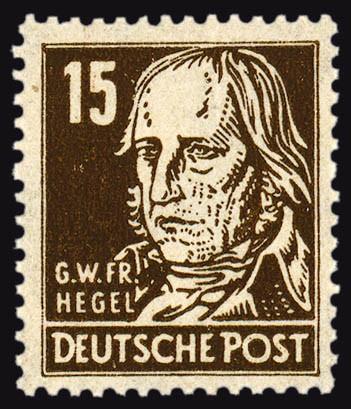 "SBZ Allg.A. MiNr. 217 ay ** Farbe ""a"", gepr. FM: Köpfe I, Hegel mit Borkengummi"