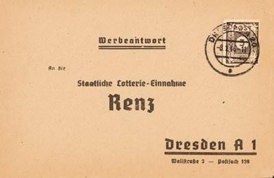 SBZ Ost-Sa. MiNr. 51 b tx I Brief mit EF -Ziffern 3Pf gepr. Dr. Jasch