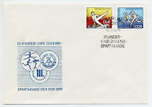 DDR FDC MiNr. 1594/95 Kinder-u. Jugendspartakiade