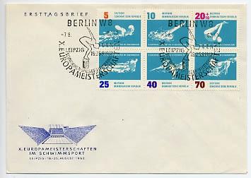 DDR FDC MiNr. 907/12 Zdr. Schwimm-EM