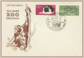 DDR FDC MiNr. 825/26 100 Jahre Dresdener Zoo